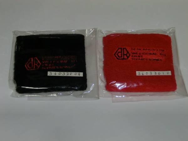 デーモン閣下(ex.聖飢魔II) グッズ リストバンド 赤・黒 2つセット