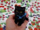 saf♪♪ 猫 黒猫 黒スコ 手乗り スコティッシュ 羊毛フェルト ハンドメイド