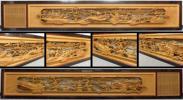 ◇吉宗◇井波彫刻 細密木彫 近江八景図 欄間一対 幅 約265cm