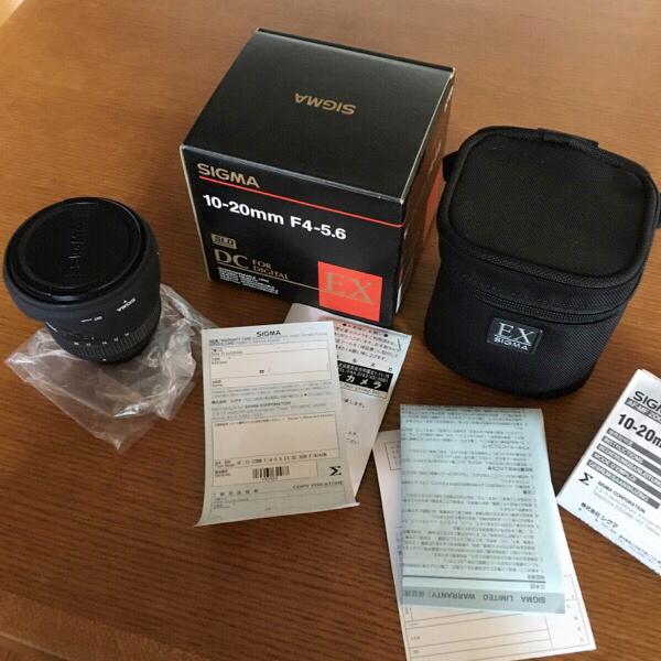 美品 保証書無記入 SIGMA シグマ AF 10-20mm f/4-5.6 EX DC ニコン マウント 広角レンズ