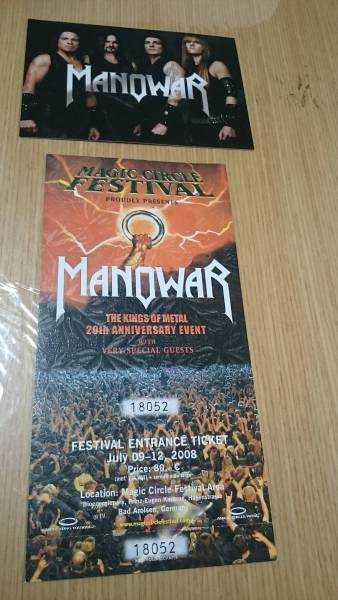 送料無料 Manowar マノウォー Magic Circle Festival The Kings of Metal 20th Anniversary Event 検索→Wacken Open Air ヘビーメタル