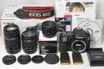 【送料無料】 Canon キャノン EOS 80D 手振れWレンズ+単焦点レンズ ★超美品★