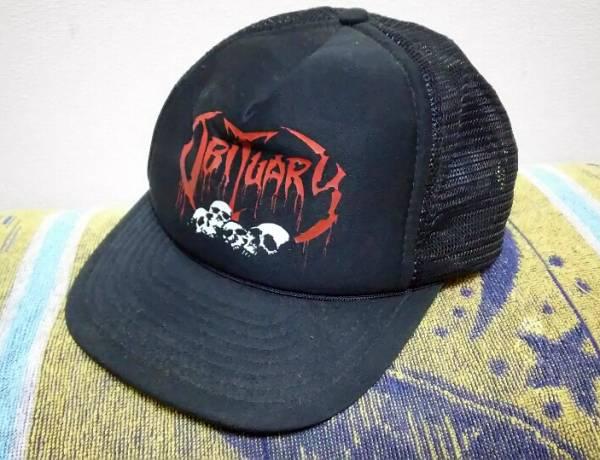 OBITUARY ビンテージ メッシュ キャップ CAP Exodus Kreator sodom napalm death repulsion デス メタル ROCK