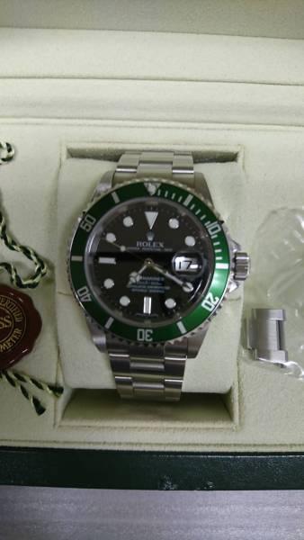 希少ロレックス  ROLEX16610 緑グリーンサブD番 50周年モデル  個人出品 美品