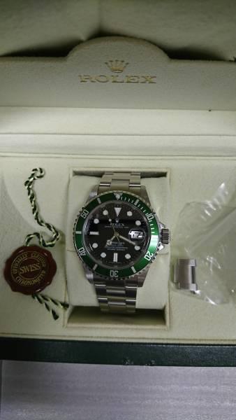 希少ロレックス  ROLEX16610 緑グリーンサブD番 50周年モデル  個人出品 美品_画像2