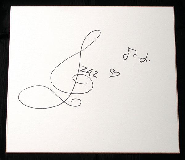 ★【ザーズ/ZAZ】直筆サイン入り色紙★