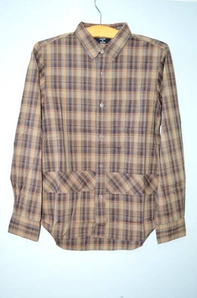 Cheap◇ZUCCA mens turn check shirt Brown S