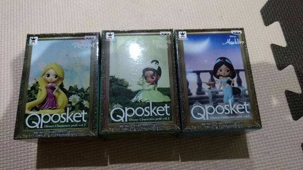 ディズニー Q POSKET QPOSKET Disney Characters petit vol.1 ラプンツェル ジャスミン ティアナ 全3種 ディズニーグッズの画像