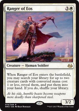 え白 イーオスのレインジャー 1枚(1枚在庫s 英 良品 MM3)/Ranger of Eos(MTG /モダンマスターズ 2017年版/Modern Masters 2017 Edition/_画像1