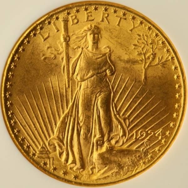 ラスト1枚! アメリカ 1924 セントゴーデンス ダブルイーグル 20ドル 金貨 NGC MS63 1円~