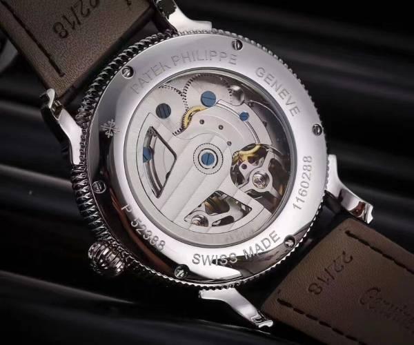 新品 パテックフィリップ Patek Philippe 透かし彫り メンズ 自動巻き時計 ホワイト文字盤(白)_画像3