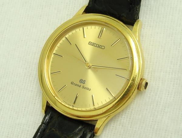 ☆SEIKO GS グランドセイコー Grand Seiko メンズ腕時計 18KT 金無垢 9581-7000 中古品_画像2