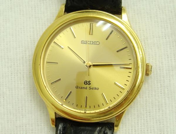 ☆SEIKO GS グランドセイコー Grand Seiko メンズ腕時計 18KT 金無垢 9581-7000 中古品_画像3