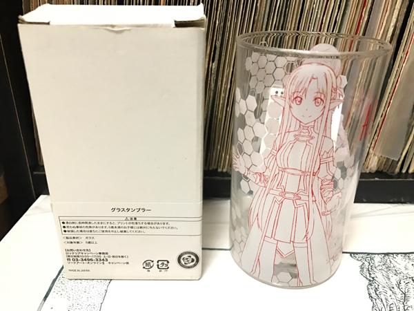 非売品 ソードアートオンラインロッテリア コラボ B賞 アスナ グラス タンブラー グッズの画像