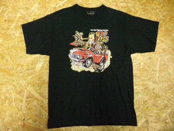 B'z ビーズ Juice 稲葉浩志 松本孝弘 LIVE-GYM PLEASURE 2000 ロッキンジェリービーン Rockin'Jelly Bean デザイン Tシャツ メンズ ライブグッズの画像