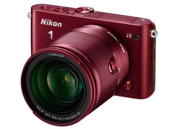 【展示品】ニコン(Nikon)Nikon 1 J3 小型10倍ズームキット [レッド]長期保証付
