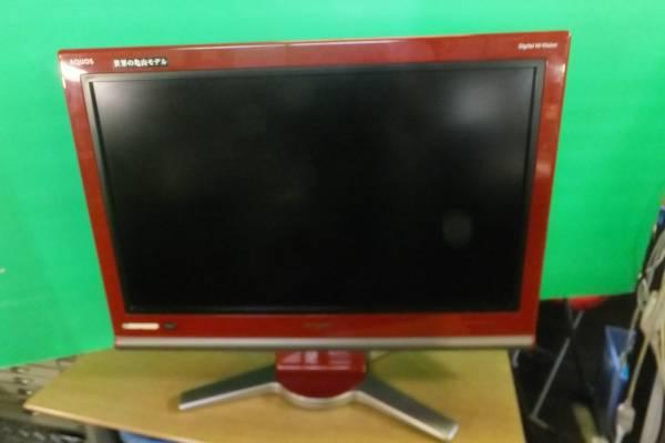 TV3 シャープAQUOS LC-32D10 レッド 32V型 地上・BS・110度CSデジタル ハイビジョン液晶テレビ/2007年製/ジャンク品_画像1