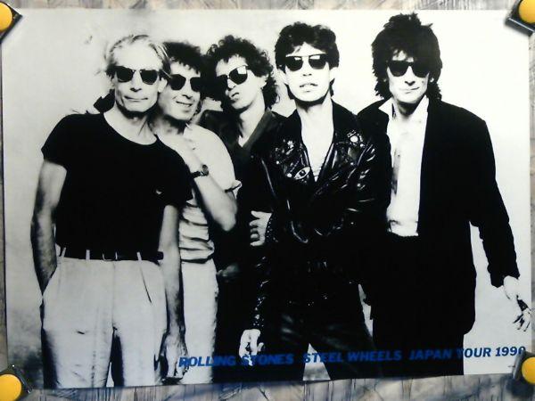 p10【ポスター/B-2】Rolling Stones-ローリング ストーンズ/'90/販促用非売品ポスター