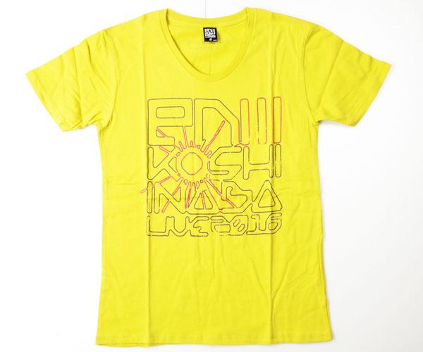 【未使用品】B'z 稲葉浩志 LIVE2016 enⅢ UネックTシャツ マスタード Sサイズ ライブグッズの画像