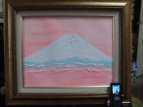 ≪国美協≫TOMOYUKI・友之、『雪景色・富士山』、油彩画、F6号:40,9×31,8cm、油絵一点物、新品高級油彩額付、直筆サイン・真作保証付_高級油彩新品額付