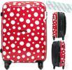 スーツケース 小型 軽量 Sサイズ 拡張式 TSAロック 便利 背面ポケット付 地球の歩き方 シフレ B1263T-55 可愛いドット柄レッド/ホワイト