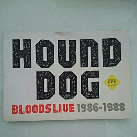 ハウンドドッグ ツアーパンフレット BLOOD LIVE'86-88♪★大友康平