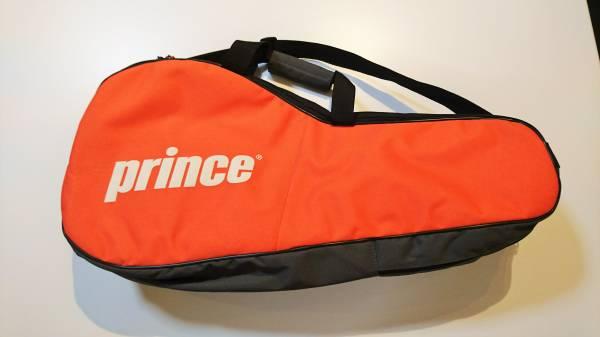 【送料無料】ラケットバッグ テニス Prince オレンジxグレー おしゃれ かっこいい サークル 初心者 とりあえず