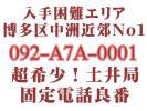 入手困難超希少!ナンバーワン!福岡市博多区 固定電話 良番 092-2A2-0001