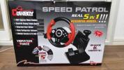 ステアリングコントローラー E019 SPEED PATROL PS2/PS3/PC対応 中古