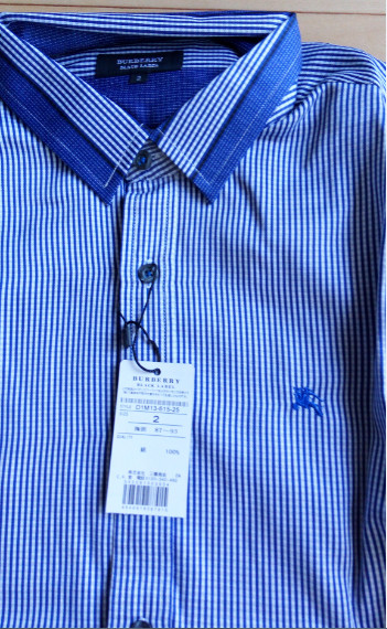 1円~新品バーバリーブラックレーベル 長袖シャツ 2(M)サイズ 青色 BURBERRY BLACK LABEL_画像2