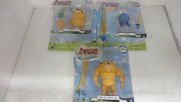 アドベンチャータイム アクション フィギュア人形 カートゥーンネットワーク Adventure Time Finn Figure 3種 未開封 セット グッズの画像