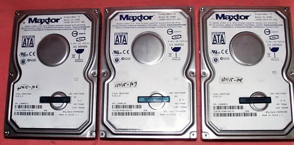 「Maxtor DianmondMax10_SATA 3.5inch/7200rpm 160Gb3個セット (内蔵 3.5 SerialATA 100GB以上)」の画像