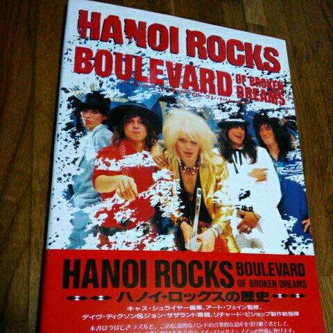 HANOI ROCKS BOULEVARD OF BROKEN DREAMS 写真集 初版 帯 ハノイロックス