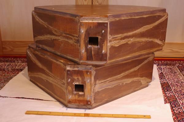 自作ホーン カットオフ周波数350Hz 木製 砂と接着剤でデッドニング 重量1台約20kg 引き取り限定(配送しません)_画像3