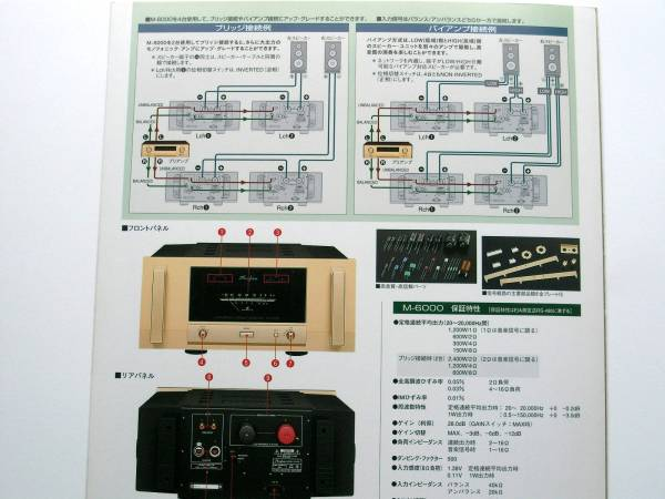 [ catalog only ]3119B2*Accuphase Accuphase power amplifier M-6000 catalog
