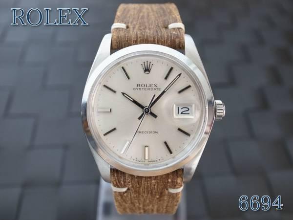 美品 1986年 Rolex Oyster Date 6694 メンズ 17年OVH済