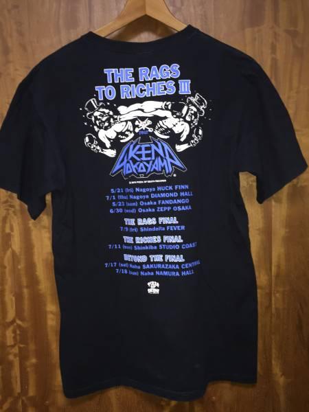 THE RAGS TO RICHES Ⅲ 黒TシャツsizeM ピザオブデス KENYOKOYAMA PIZZA OF DEATH ハイスタンダード 横山健 ライブグッズの画像