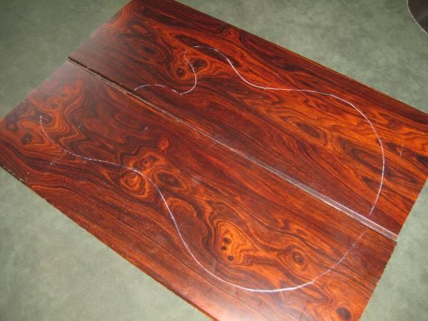 ■ココボロローズウッド・トップ用薄板材■