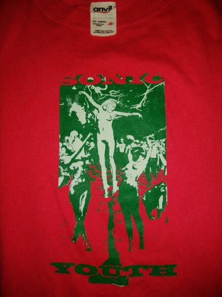 レア 90s Sonic Youth オフィシャル Tシャツ M レア anvil Nirvana Kurt Sub Pop Dinosaur Jr. MELVINS Black Flag FUGAZI Rollins