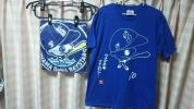 送料無料 横浜DeNAベイスターズ 5周年記念ポンチョ(未開封)+ 球場配布 戸柱捕手の作画Tシャツ