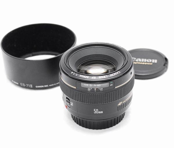 【超美品】Canon キヤノン EF 50mm F1.4 USM 純正フード付き