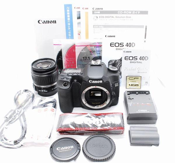 【超美品・付属品完備の豪華セット】Canon キヤノン EOS 40D EF-S 18-55mm Ⅱ USM