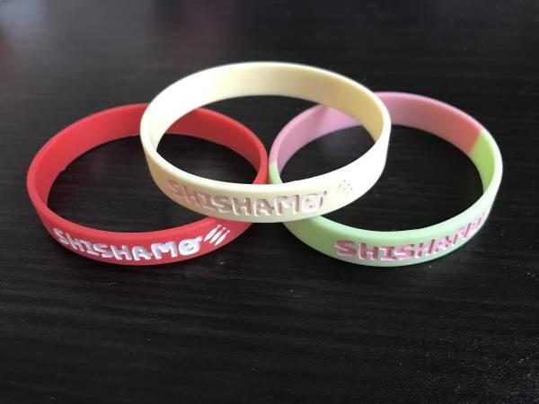 SHISHAMO ししゃも ロゴ ラバーバンド 3個セット ラババン ライブグッズの画像