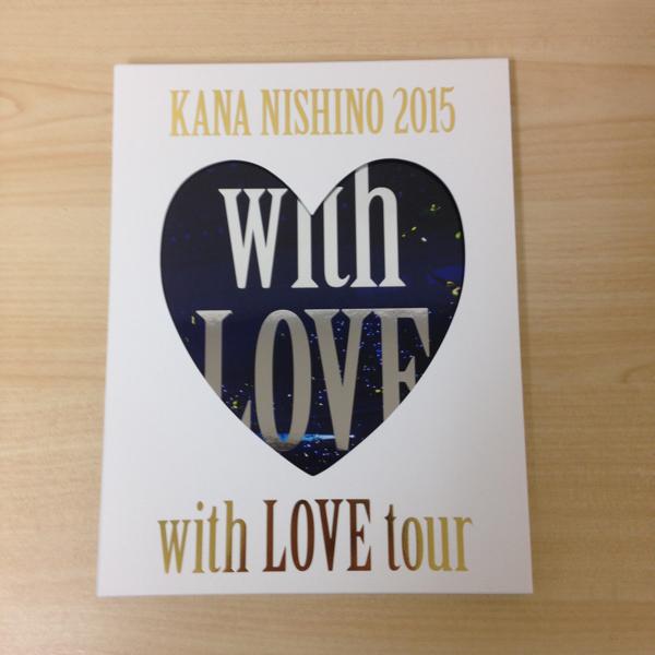 西野カナ with LOVE tour 2015 パンフレット 特別版 ノート付