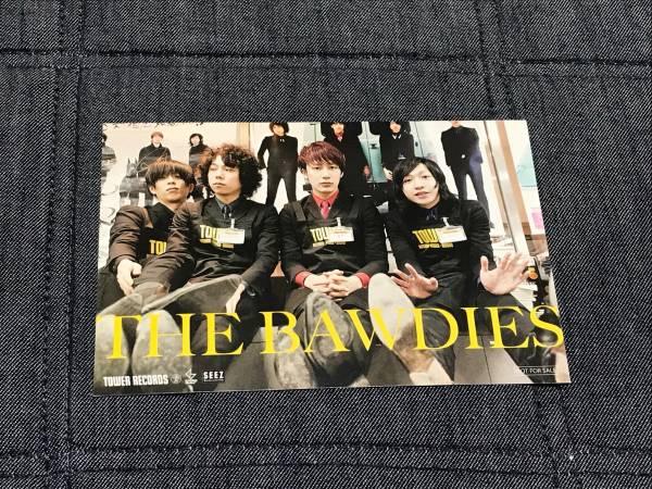 THE BAWDIES 希少 レア 非売品ポストカード タワレコ タワーレコード ボゥディーズ