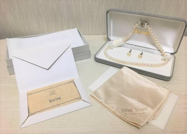 【最高品質】伊勢丹、パールハウス本真珠ネックレス イヤリングセット 8mm珠 証明書付き_画像2