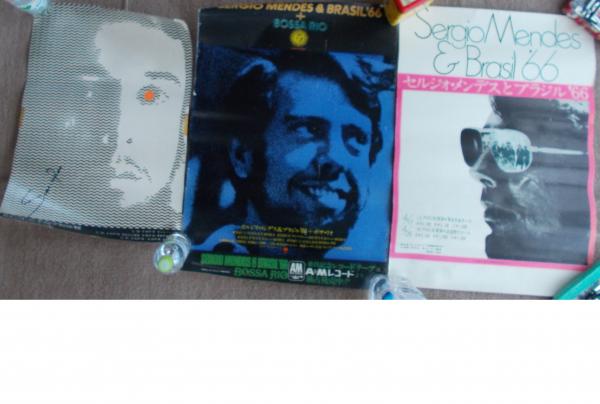 直筆サイン入あり セルジオ・メンデスとブラジル'66の公演告知ポスター3枚セット