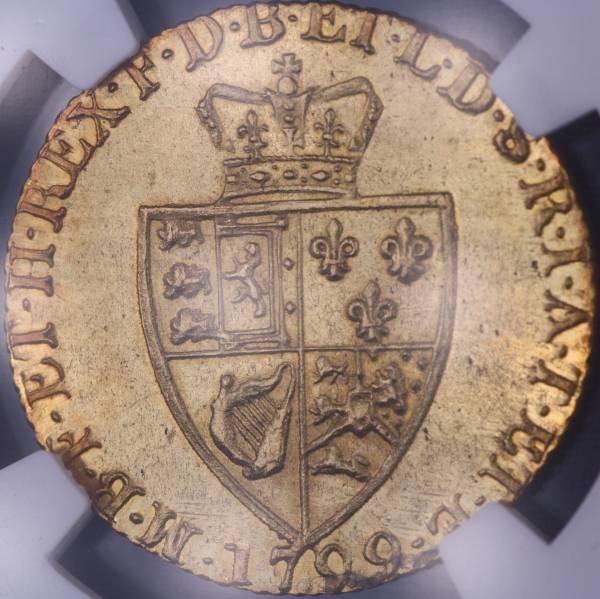 最落なし! ★世界最高グレード MS65! イギリス ギニー金貨 1799 NGC 全ギニー金貨でも