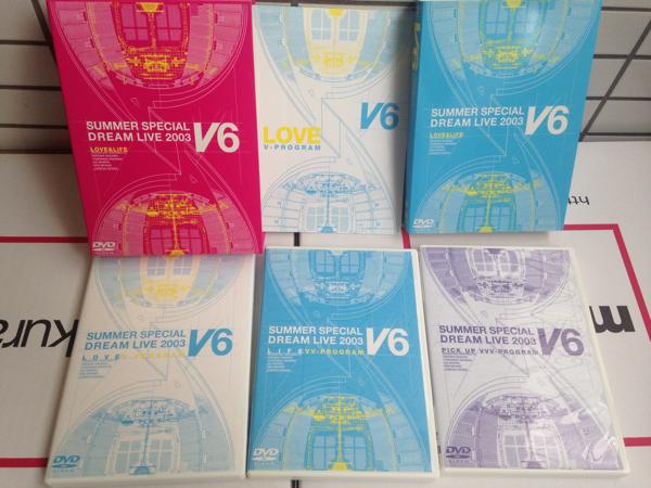V6 SUMMER SPECIAL DREAM LIVE 2003 LOVE&LIFE DVD-BOX 初回限定版 3枚組