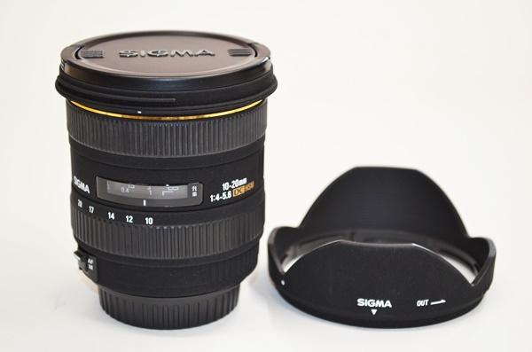 美品 シグマ SIGMA EX 10-20mm 1:4-5.6 DC HSM レンズ CANON